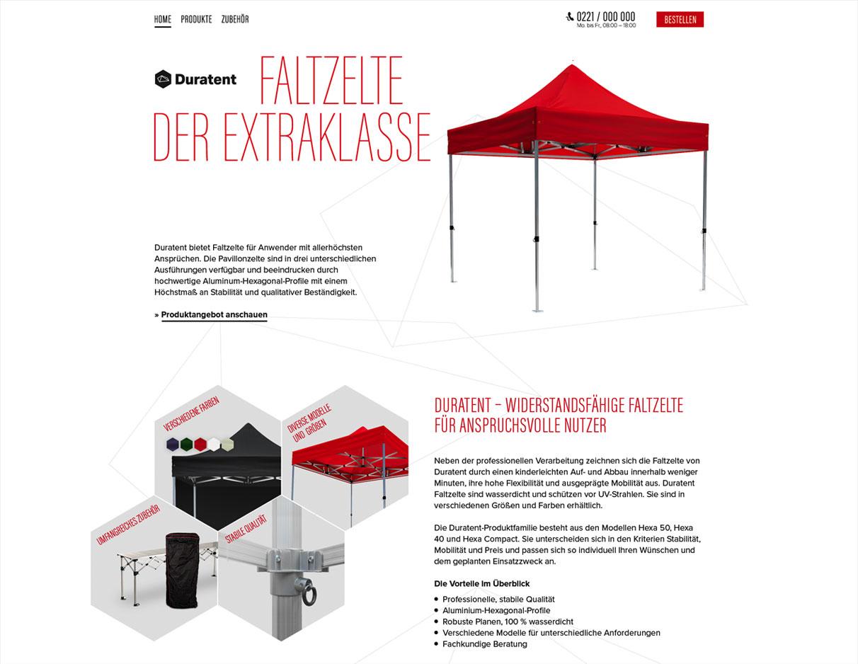Duratent Corporate Style und Website Entwicklung