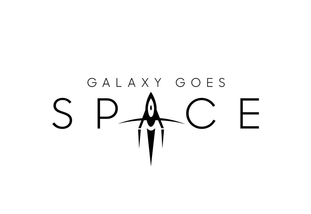 Galaxy goes Space Logo Design